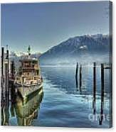 Passenger Ship On An Alpine Lake Canvas Print