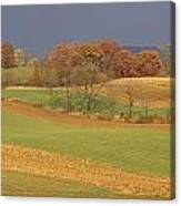 Pastoral View Of Rolling Fields Canvas Print