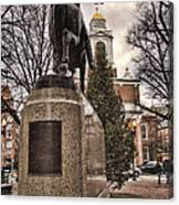 Paul Revere-statue Canvas Print