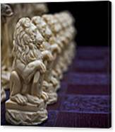 Pawns In A Row Canvas Print
