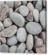 Pebbles On Beach Canvas Print