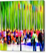 People Walking In The City-9 Canvas Print