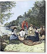 Picnic, 1885 Canvas Print