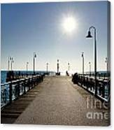 Pier In Backlight Canvas Print