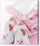Pink Baby Clothes For Infant Girl Canvas Print