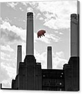 Pink Floyd Pig At Battersea Canvas Print