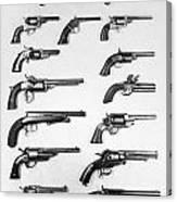 Pistols And Revolvers Canvas Print
