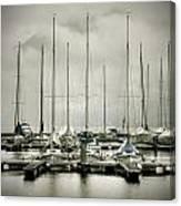 Port On A Rainy Day Canvas Print