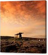 Poulnabrone Dolmen, The Burren, Co Canvas Print