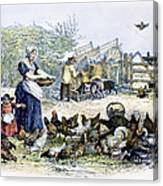 Poultry Yard, 1847 Canvas Print