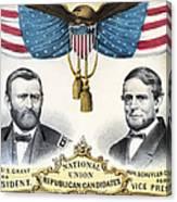 Presidential Campaign, 1868 Canvas Print