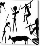 Primitive Art - Various Figures Canvas Print