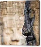 Profile Of Avalokiteshvara Statue Canvas Print