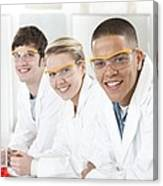 Pupils In A Science Lesson Canvas Print