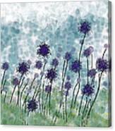 Purple Puffs Canvas Print