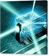 Quantum Computer Core Canvas Print