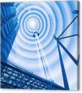 Radio Tower With Radio Waves Canvas Print
