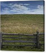 Rail Fence And Field Along The Blue Ridge Parkway Canvas Print