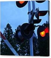 Railroad Crossing Canvas Print