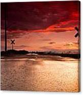 Railroad Sunset Canvas Print