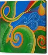 Rainbow Healing For Family Canvas Print
