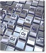 Rare Earth Metals, Conceptual Image Canvas Print