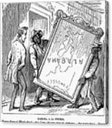Reconstruction Cartoon Canvas Print