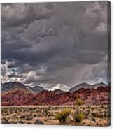 Red Rock Storm Canvas Print