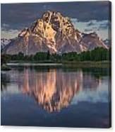 Reflections On Mount Moran Canvas Print