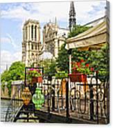 Restaurant On Seine Canvas Print