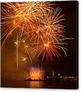 River Thames Fireworks Canvas Print