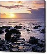 Rocks On The Beach, Giants Causeway Canvas Print