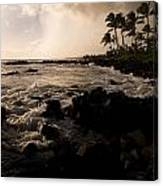 Rocky Coastline, Poipu, Kauai, Hawaii Canvas Print
