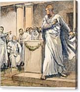 Roman Senate: Catiline Canvas Print