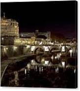 Rome Ponte San Angelo Canvas Print