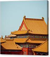 Roof Of Forbidden City Canvas Print