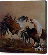 Rooster Fight Canvas Print