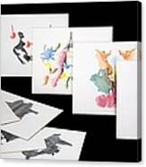 Rorshach Inkblot Test Canvas Print