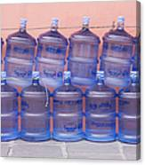 Rows Of Water Jugs Canvas Print
