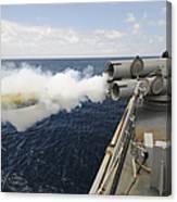 Sailors Observe A Mk-46 Recoverable Canvas Print