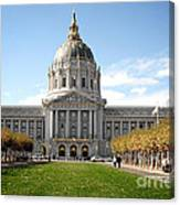 San Francisco City Hall - Beaux Arts At Its Best Canvas Print