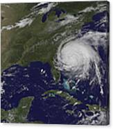 Satellite View Of Hurricane Irene Canvas Print