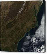 Satellite View Of The Southeastern Canvas Print