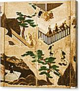 Scenes From The Tale Of Genji Canvas Print