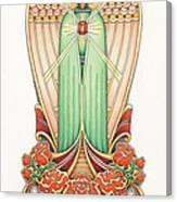 Scroll Angel - Roselind Canvas Print