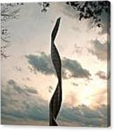 Sculpture At Our Lady Of The Snows Canvas Print