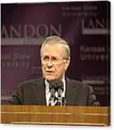 Secretary Of Defense Donald H. Rumsfeld Canvas Print