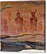 Sego Canyon Indian Petroglyphs And Pictographs Canvas Print