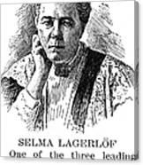 Selma Lagerlof (1858-1940) Canvas Print