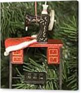 Sewing Machine Ornament Canvas Print